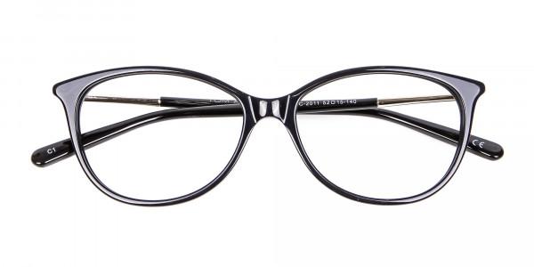 Cool Black Cat Eye Glasses -6