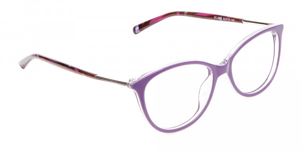 Rosy Purple Cat Eye Glasses -2