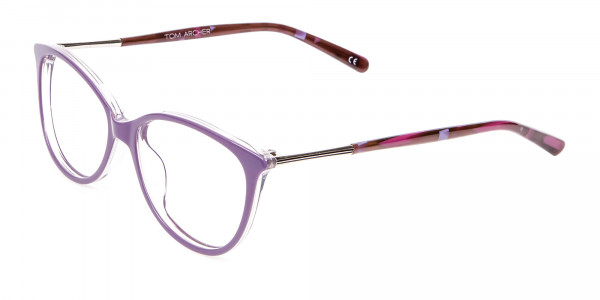 Rosy Purple Cat Eye Glasses -3