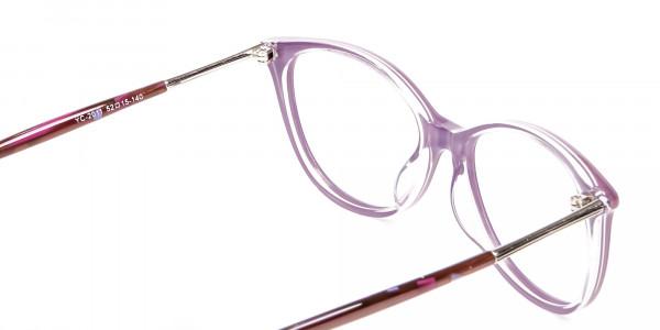 Rosy Purple Cat Eye Glasses -5