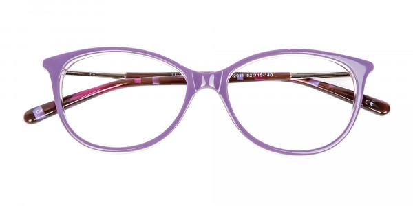 Rosy Purple Cat Eye Glasses -6
