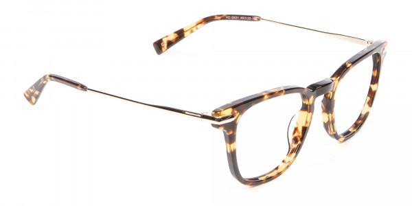 Tortoiseshell Horn-Rimmed Glasses - 1