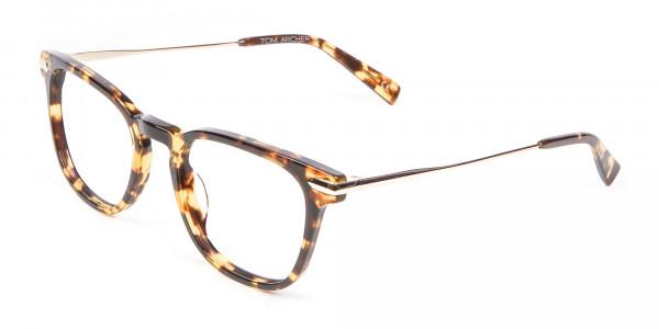 Tortoiseshell Horn-Rimmed Glasses - 2