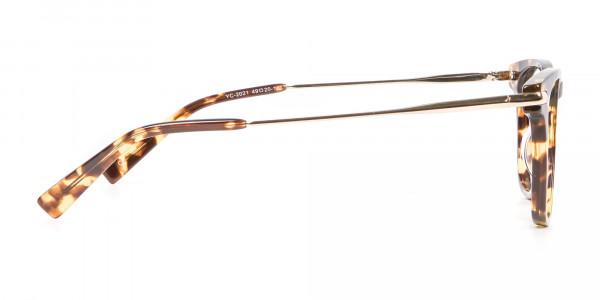 Tortoiseshell Horn-Rimmed Glasses - 3