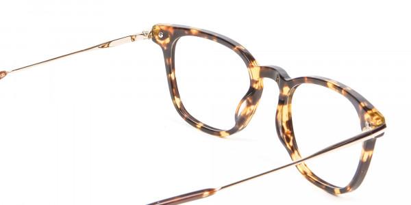 Tortoiseshell Horn-Rimmed Glasses - 4