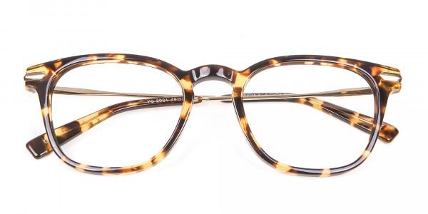 Tortoiseshell Horn-Rimmed Glasses - 5