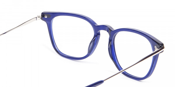 Luxurious Look Navy Blue Glasses - 4