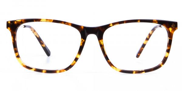 Chic Metallic Tortoiseshell Glasses - 5