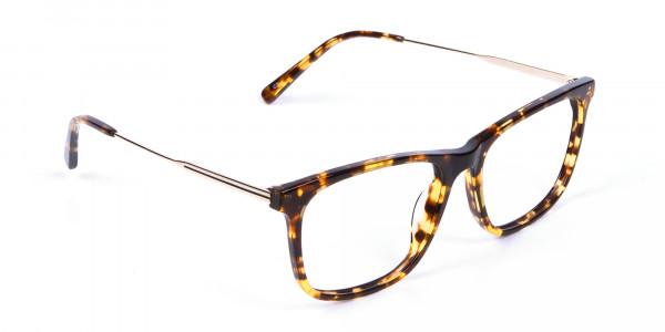 Chic Metallic Tortoiseshell Glasses - 1