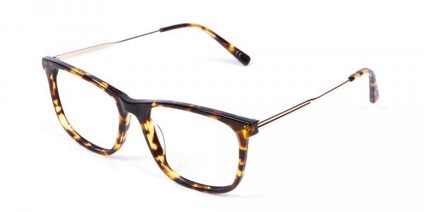 Chic Metallic Tortoiseshell Glasses - 2