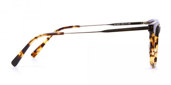 Chic Metallic Tortoiseshell Glasses - 3