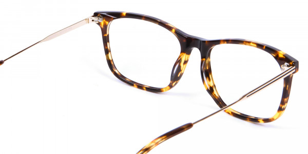 Chic Metallic Tortoiseshell Glasses - 4