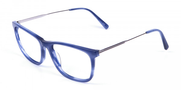 Blue Glasses in Marble Shade - 2