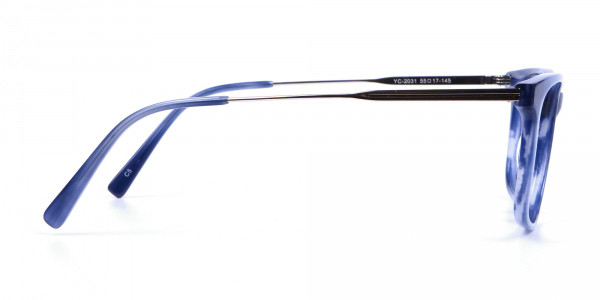 Blue Glasses in Marble Shade - 3