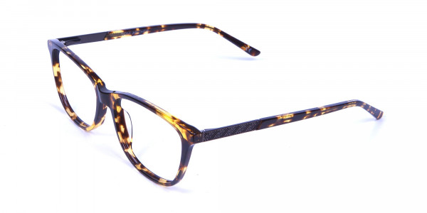 Warm-toned Glasses in Tortoiseshell - 2