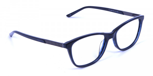 Cat Eye Glasses with Mix Material - 1