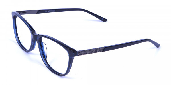 Cat Eye Glasses with Mix Material - 2