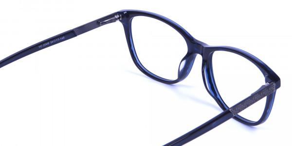 Cat Eye Glasses with Mix Material - 4