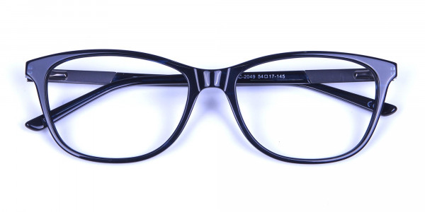 Cat Eye Glasses with Mix Material - 5