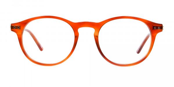 Trendy Caramel Brown Eyeglasses