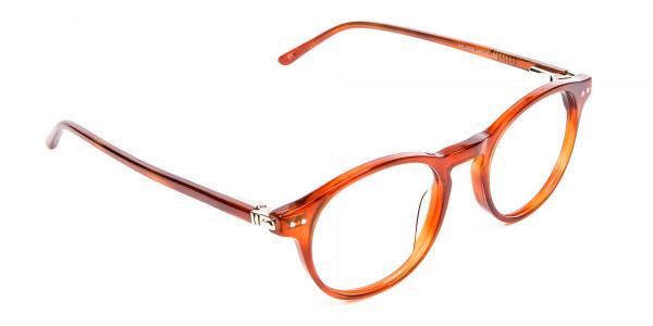 Trendy Caramel Brown Eyeglasses - 1