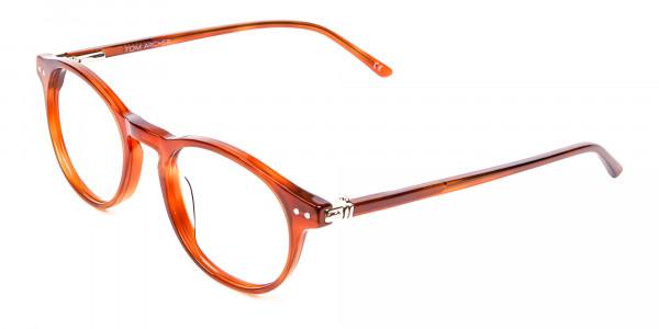 Trendy Caramel Brown Eyeglasses - 2