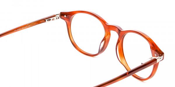 Trendy Caramel Brown Eyeglasses - 4