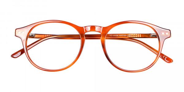 Trendy Caramel Brown Eyeglasses - 5