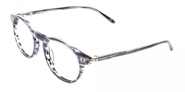 Classic Round Silver Grey Glasses - 2