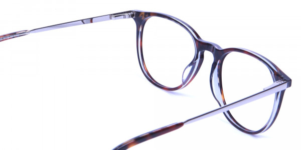 Dark Havana & Tortoise Circle Glasses -4