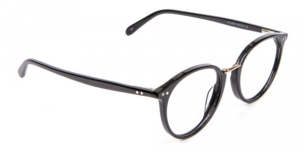 Round Glasses in Black - 1