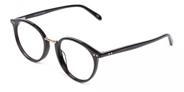 Round Glasses in Black - 2