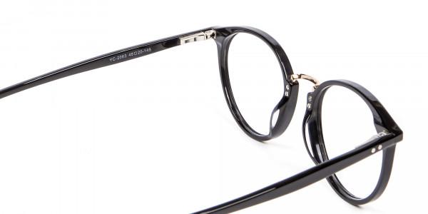 Round Glasses in Black - 4