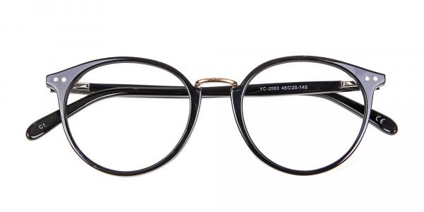 Round Glasses in Black - 5