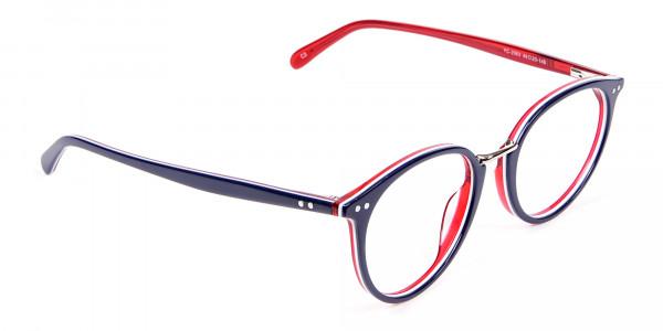 Navy Blue & Red Glasses - 1