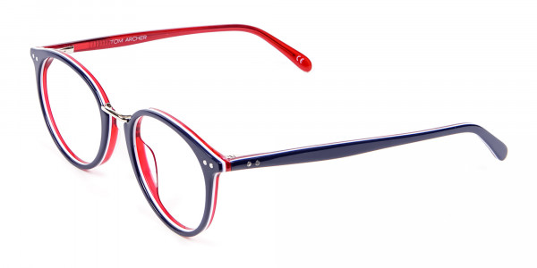 Navy Blue & Red Glasses - 2