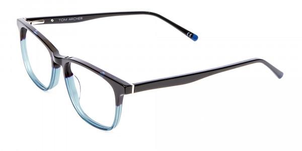 Colour Mixed Nerd Look Rectangular Glasses - 3