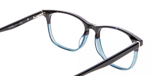 Colour Mixed Nerd Look Rectangular Glasses - 5