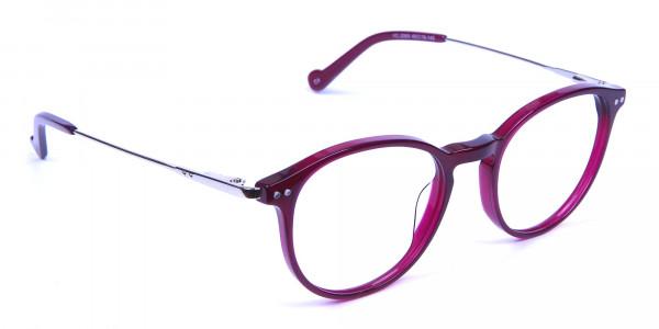 Burgundy red framed glasses -1