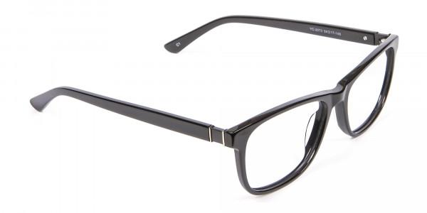 Black Simplicity Wayfarer Glasses - 1
