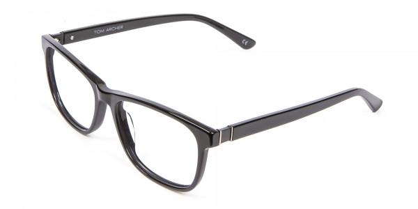 Black Simplicity Wayfarer Glasses - 2