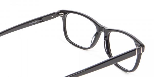 Black Simplicity Wayfarer Glasses - 4