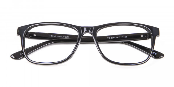 Black Simplicity Wayfarer Glasses - 5