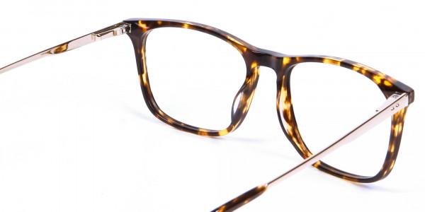 Tortoiseshell Glasses with Metal Arms - 4