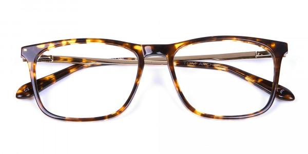 Tortoiseshell Glasses with Metal Arms - 5