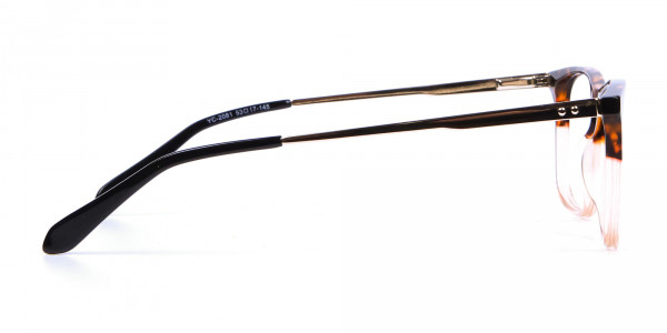 Tortoiseshell Rectangular Dual-Toned Glasses - 3