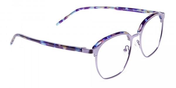 Fashion Round Metal Glasses - 1