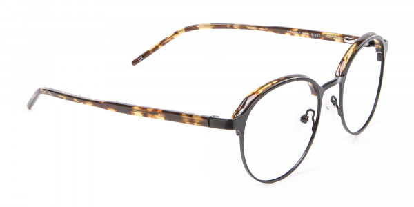 Tortoiseshell Round & Metal Glasses - 1