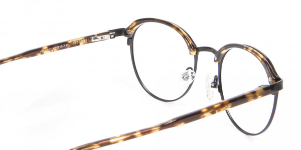 Tortoiseshell Round & Metal Glasses - 4