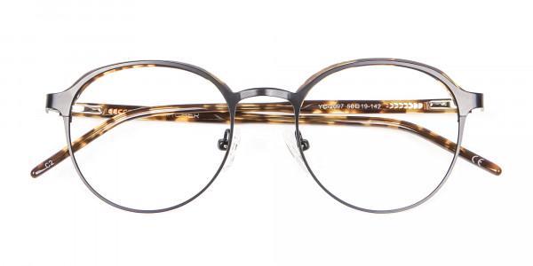 Tortoiseshell Round & Metal Glasses - 5